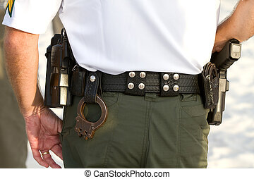 Policemans Equipment Belt - Policemans equipment belt...