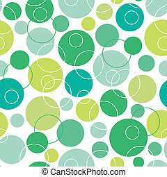 Abstract green circles seamless pattern background