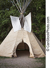 Teepee - Native American TeePee at Devil's Tower National...