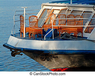 pleasure boat - Place on a nose of a vessel for rest of...