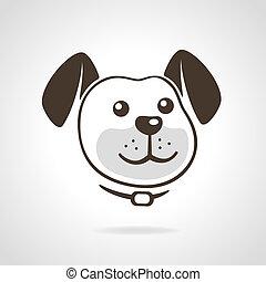 dog icon - Smiling dog head icon vector illustration