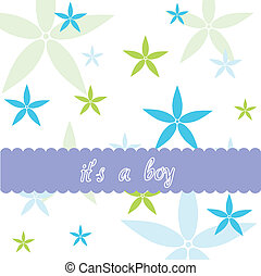 Baby boy and floral card