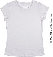 T-shirt isolated on a white