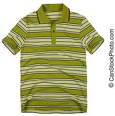 Polo shirt isolated on white background