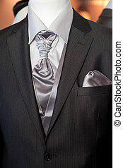 Grooms wedding suit on a mannequin