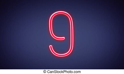 nero countdown number blue