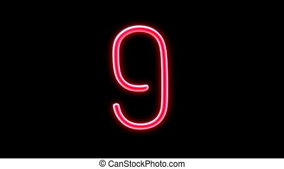 nero countdown number - Nero light countdown object