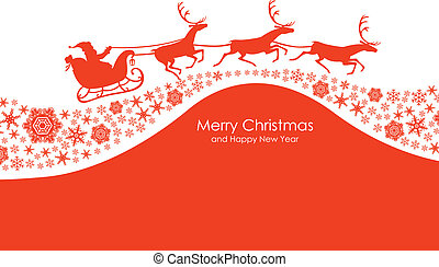 Christmas congratulatory card
