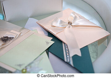 Handmade paper wedding invitations