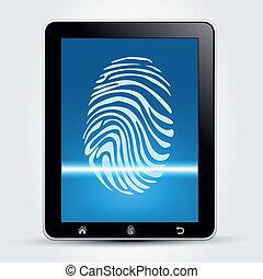 Fingerprint Scanning Tablet