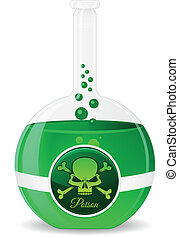 Poison Potion Vector Illustration. Green Drench.