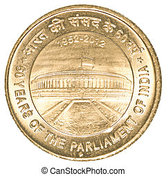 5 indian rupees coin - 60 years of parliament - 5 indian...