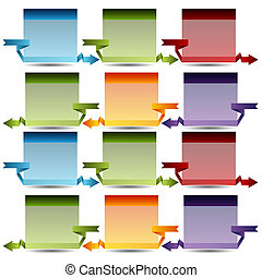 3d Connected Box Chart - An image of a 3d connected box...