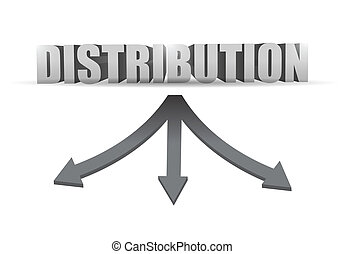 distribution destination illustration design over a white...