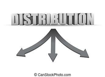 distribution destination illustration design over a white...