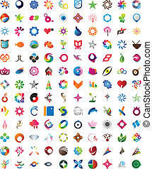 Huge collection of trendy icons - One hundred thirty pieces...
