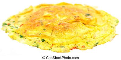 Telur Dadar Omelette - Telur dadar, a flat, omelette-style...
