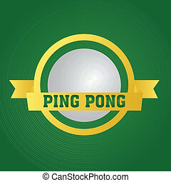 ping pong - abstract ping pong label on special gradient...