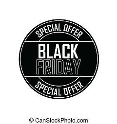 Black Friday Label - Black Friday special offer label on...