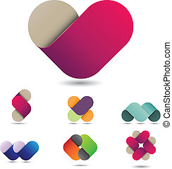 Playful design element - Colorful vector design element that...