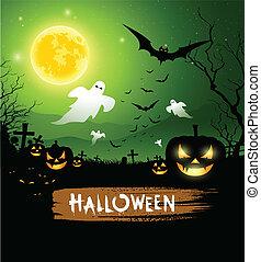 Halloween ghost design background