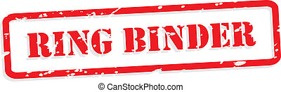 Ring Binder Rubber Stamp Vector - Ring binder red rubber...