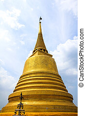 Wat Saket temple , the golden mount, Bangkok, Thailand