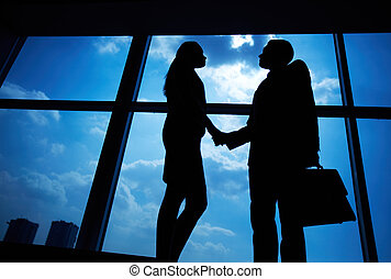 Business deal - Photo of successful businessman and...