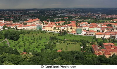 Panorama of historical center of Prague View from the Petrin...