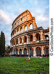 The Iconic, the legendary Coliseum of Rome, Italy - ROME...