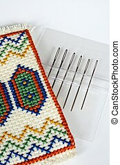 Tapestry needles and holder - Tapestryembroidery needles in...