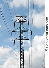 Power Tower with electrical grid lines