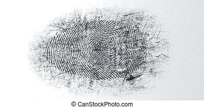 Quitar el polvo, crimen, escena, Huella digital