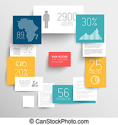 Vector abstract rectangles infographic template - Vector...