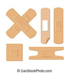 illustration of medical bandages - Illustration of medical...