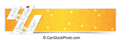 Spring Banner with Natural Elements