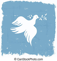 Peace dove wallpaper in grunge frame