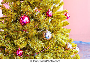 Close-up of decorated x-mas tree