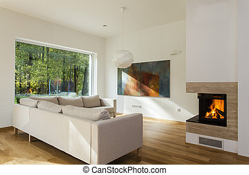 Huge sofa - Huge and cosy sofa in contemporary living room
