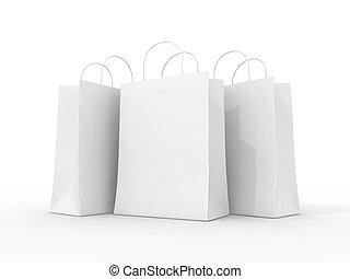 Shopping bags - Blank shopping bags
