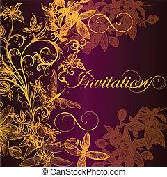 Luxury invitation card in vintage