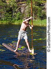 Rafting boy