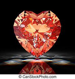 Diamond heart - Red diamond heart