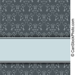 Retro damask background