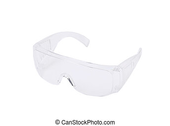 Clear protective glasses Isolated on a white background