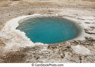 Hveravellir - Incredibly blue small pool at Hveravellir is...