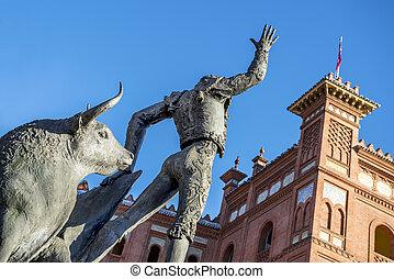 stadsplein, de, Toros, de, Las, Ventas, Madrid