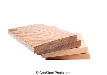 Four different boards - Four boards acacia oak elm lime...