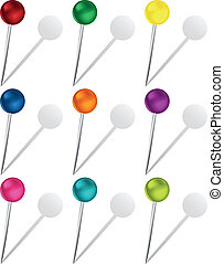 Set of Colorful Pins