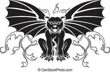 Gargoyle stencil decoration